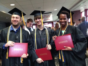 Graduation! Chaz Graves, Ben Legel, Alexandra Washington