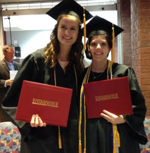 Graduation! Rachel Unverfehrt, JuliAnn Nipper