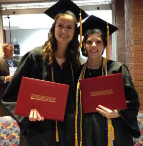 Graduation! Rachel Unverfehrt, JuliAnn Nipper
