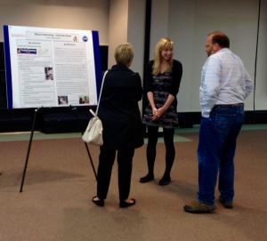 Kelly Cusack answers questions from Dr. Kurt Schulz about her internship experience